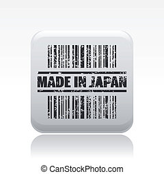 Vector illustration of single isolated made in Japan icon