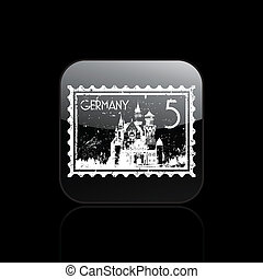 Vector illustration of single isolated Germany icon