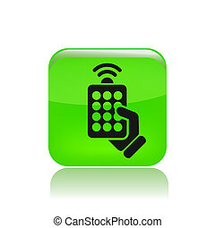 Vector illustration of single isolated remote icon