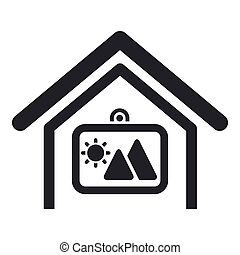 Vector illustration of single isolated home decor icon