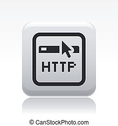 Vector illustration of single isolated http browser icon