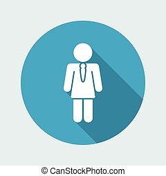 Vector illustration of single isolated girl icon