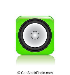 Vector illustration of single isolated speaker icon