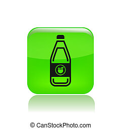Vector illustration of single isolated bottle icon
