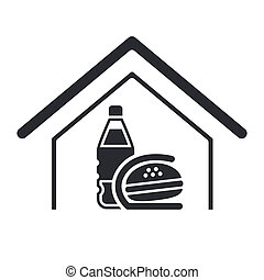 Vector illustration of single isolated fast-food icon