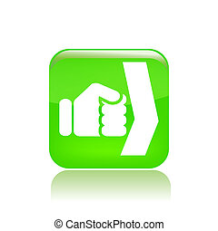 Vector illustration of single isolated fist icon