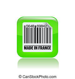 Vector illustration of single isolated French label icon