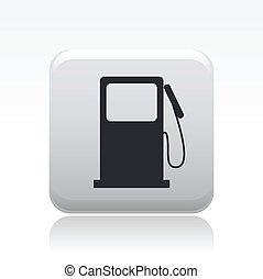 Vector illustration of single isolated gasoline icon