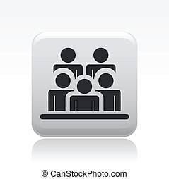 Vector illustration of single isolated group icon