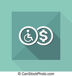 Vector illustration of single isolated handicap...