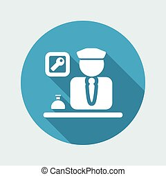 Vector illustration of single isolated hotel icon