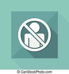 "Vector illustration of single isolated icon depicting ""access forbidden concept"""