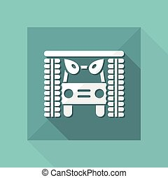 Vector illustration of single isolated icon