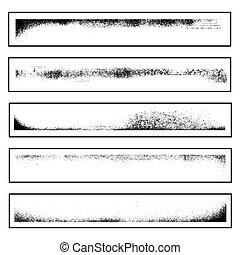 Vector illustration of single isolated grunge corners