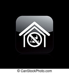 Vector illustration of single isolated not smoke icon