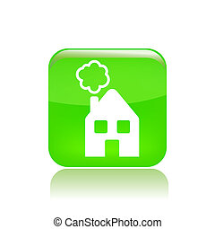 Vector illustration of single isolated home icon