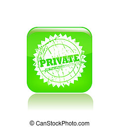 Vector illustration of single isolated private icon