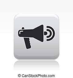 Vector illustration of single isolated megaphone icon