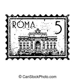 Vector illustration of single isolated Rome icon