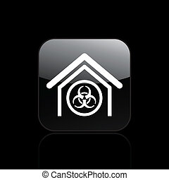 Vector illustration of single isolated danger icon