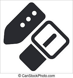 Vector illustration of single isolated belt icon