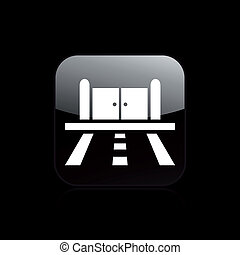 Vector illustration of single isolated road doors icon