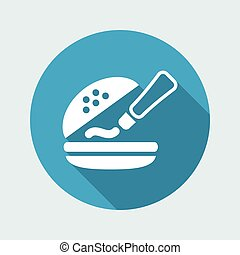 Vector illustration of single isolated sauce icon