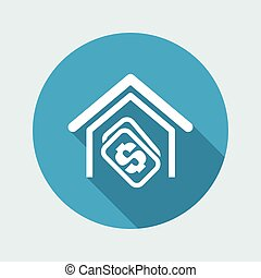 Vector illustration of single isolated money icon