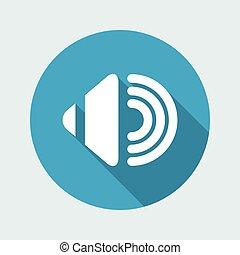 Vector illustration of single isolated audio icon