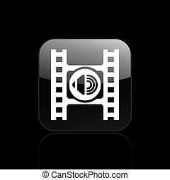 Vector illustration of single isolated audio player icon