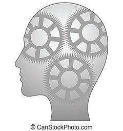 Vector illustration of single isolated thinking-man icon