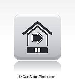 Vector illustration of single isolated Go icon