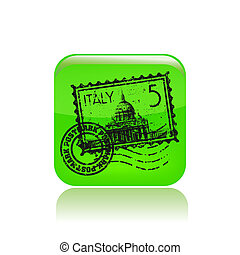 Vector illustration of single isolated Italy icon