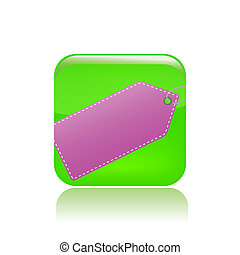 Vector illustration of single isolated label icon