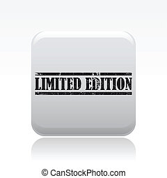 Vector illustration of single isolated limited edition icon