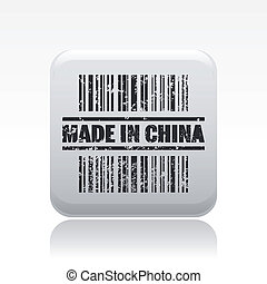 Vector illustration of single isolated made in China icon
