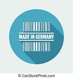 Vector illustration of single isolated made in Germany icon