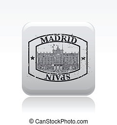 Vector illustration of single isolated Madrid icon