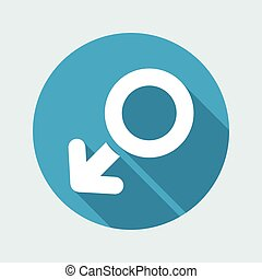 Vector illustration of single isolated male icon