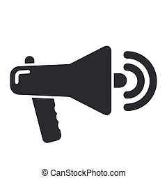 Vector illustration of single isolated megaphone icon