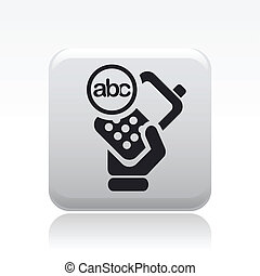 Vector illustration of single isolated message smartphone icon