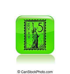 Vector illustration of single isolated New York icon