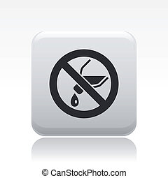Vector illustration of single isolated no pour liquid icon