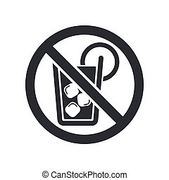 Vector illustration of single isolated not drink icon