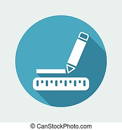 Vector illustration of single isolated pencil icon