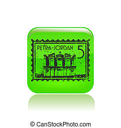 Vector illustration of single isolated Petra icon