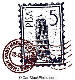 Vector illustration of single isolated Pisa icon