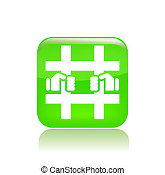 Vector illustration of single isolated prison icon
