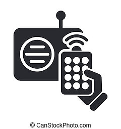 Vector illustration of single isolated radio remote icon