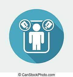 Vector illustration of single isolated reality icon